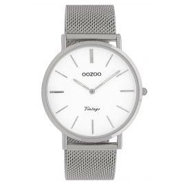Oozoo C9901 Damenuhr Vintage Silber/Weiß 40 mm