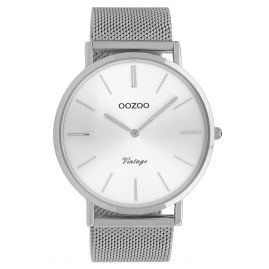 Oozoo C9904 Watch Vintage Silver-Tone 44 mm