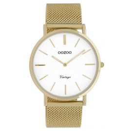 Oozoo C9909 Ladies' Watch Vintage Gold-Tone/White 40 mm