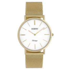 Oozoo C9910 Ladies' Watch Vintage Gold-Tone/White 36 mm