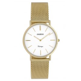 Oozoo C9911 Ladies' Watch Vintage Gold-Tone/White 32 mm
