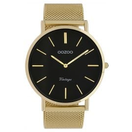 Oozoo C9912 Watch Vintage Gold-Tone/Black 44 mm
