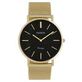 Oozoo C9913 Ladies' Watch Vintage Gold-Tone/Black 40 mm