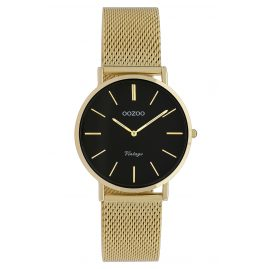 Oozoo C9915 Ladies' Wristwatch Vintage Gold-Tone/Black 32 mm