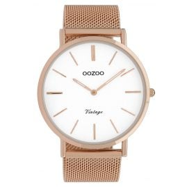 Oozoo C9916 Watch Vintage Rose Gold-Tone/White 44 mm