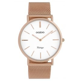 Oozoo C9917 Ladies' Watch Vintage Rose Gold-Tone/White 40 mm