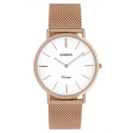 Oozoo C9918 Ladies' Wristwatch Vintage Rose Gold-Tone/White 36 mm