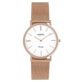 Oozoo C9919 Ladies' Wristwatch Vintage Rose Gold-Tone/White 32 mm
