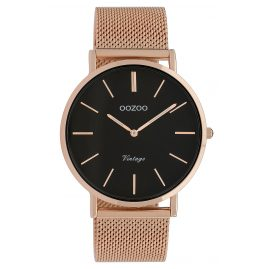 Oozoo C9925 Ladies' Watch Vintage Rose Gold-Tone/Black 40 mm