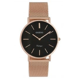 Oozoo C9926 Ladies' Watch Vintage Rose Gold-Tone/Black 36 mm