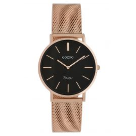 Oozoo C9927 Ladies' Watch Vintage Rose Gold-Tone/Black 32 mm