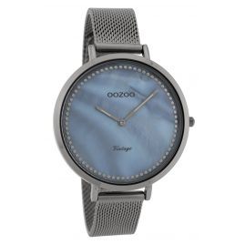 Oozoo C9859 Ladies' Watch Vintage Titanium-Tone/Mother-of-Pearl 40 mm
