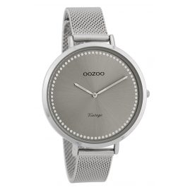 Oozoo C9855 Ladies' Watch Vintage Silver/Grey 40 mm