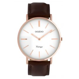 Oozoo C9832 Ladies' Watch Vintage Brown/White 40 mm