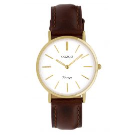 Oozoo C9836 Ladies' Wristwatch Vintage Brown/White 32 mm