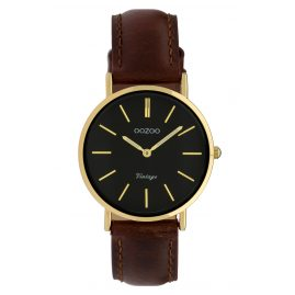 Oozoo C9838 Ladies' Watch Vintage Brown/Black 32 mm
