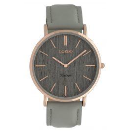 Oozoo C9865 Damenuhr mit Lederband Timepieces Grey 40 mm