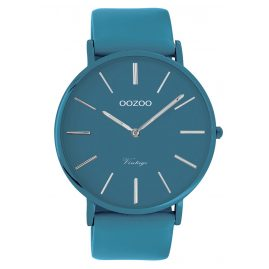 Oozoo C9878 Watch with Leather Strap Marine Blue 44 mm