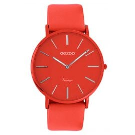 Oozoo C9885 Watch with Leather Strap Chili Pepper 40 mm