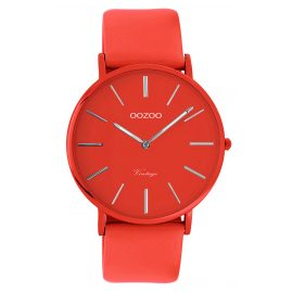 Oozoo C9885 Armbanduhr mit Lederband Chili Pepper 40 mm