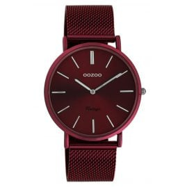 Oozoo C20001 Ladies' Watch Ultra Slim Burgundy 40 mm