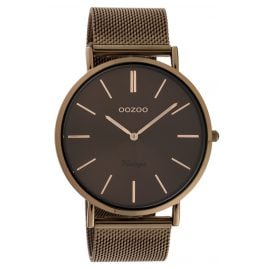 Oozoo C20016 Women's Watch Ultra Slim Brown 44 mm