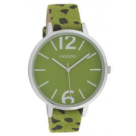 Oozoo C10197 Ladies' Watch Leopard Look Green 43 mm