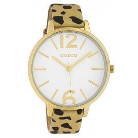 Oozoo C10206 Damen-Armbanduhr Leo Gold/Schwarz 43 mm