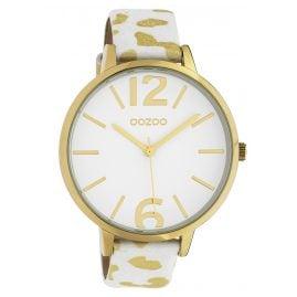 Oozoo C10209 Damen-Armbanduhr Leo Weiß/Gold 43 mm