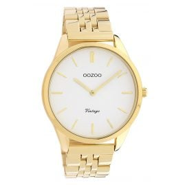 Oozoo C9985 Women's Watch Metal Bracelet Ø 38 mm Gold Tone / White