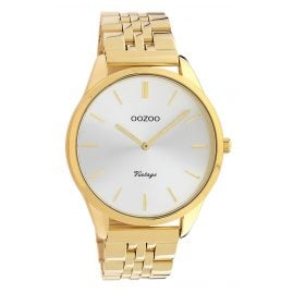 Oozoo C9986 Damenuhr Metallband Ø 38 mm Gold-/Silberfarben