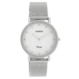 Oozoo C20051 Ladies' Watch Silver Tone Glitter Ø 34 mm