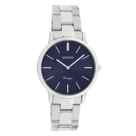 Oozoo C20041 Ladies' Watch Metal Bracelet Silver/Blue Ø 34 mm
