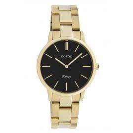Oozoo C20047 Damen-Armbanduhr Metallband Gold/Schwarz Ø 34 mm