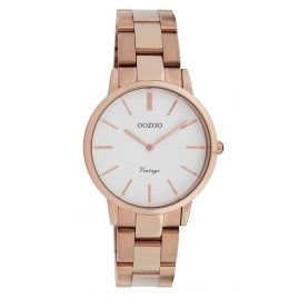 Oozoo C20048 Ladies' Watch Metal Bracelet Rose Gold/White Ø 34 mm
