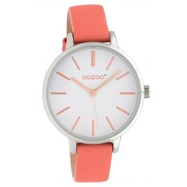Oozoo JR311 Ladies' Watch with Leather Strap 34 mm Soft-Pink / White