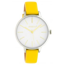 Oozoo JR312 Women's Watch with Leather Strap 34 mm Yellow / White