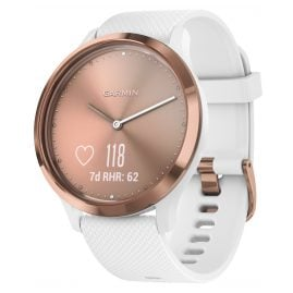 Garmin 010-01850-02 vivomove HR Sport Ladies' Smartwatch S/M Rose/White