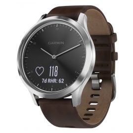 Garmin 010-01850-04 vivomove HR Premium Fitness Tracker Smartwatch L Brown