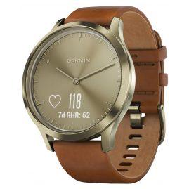 Garmin 010-01850-05 vivomove HR Premium Damen-Smartwatch S/M Hellbraun