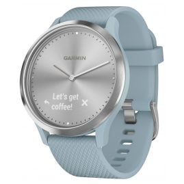 Garmin 010-01850-08 Ladies' Smartwatch vivomove HR Sport Light Blue/Silver