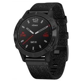 Garmin 010-02158-17 fenix 6 Saphir Smartwatch Schwarz/Schwarz
