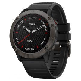 Garmin 010-02157-11 fenix 6X Saphir Smartwatch Schiefergrau/Schwarz