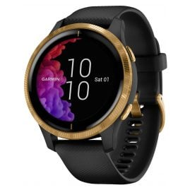 Garmin 010-02173-32 Venu GPS Fitness-Smartwatch Black/Gold
