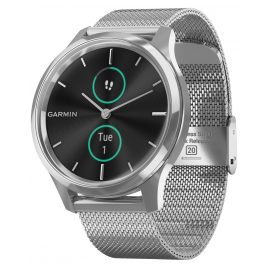 Garmin 010-02241-03 vivomove Luxe Smartwatch with Mesh Strap