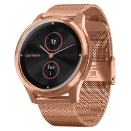 Garmin 010-02241-04 vivomove Luxe Hybrid Smartwatch with Mesh Strap Rose
