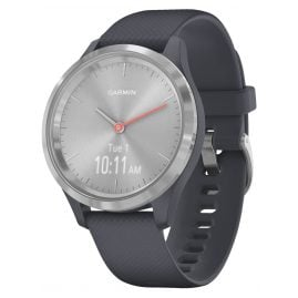 Garmin 010-02238-00 vivomove 3S Smartwatch with Silicone Strap Granite Blue/S