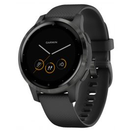 Garmin 010-02172-12 vivoactive 4s GPS Fitness Smartwatch Black/Slate Grey