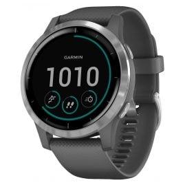Garmin 010-02174-02 vivoactive 4 GPS Fitness-Smartwatch Dunkelgrau/Silber