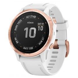 Garmin 010-02159-11 fenix 6S Pro Smartwatch Roségold/Weiß 42 mm